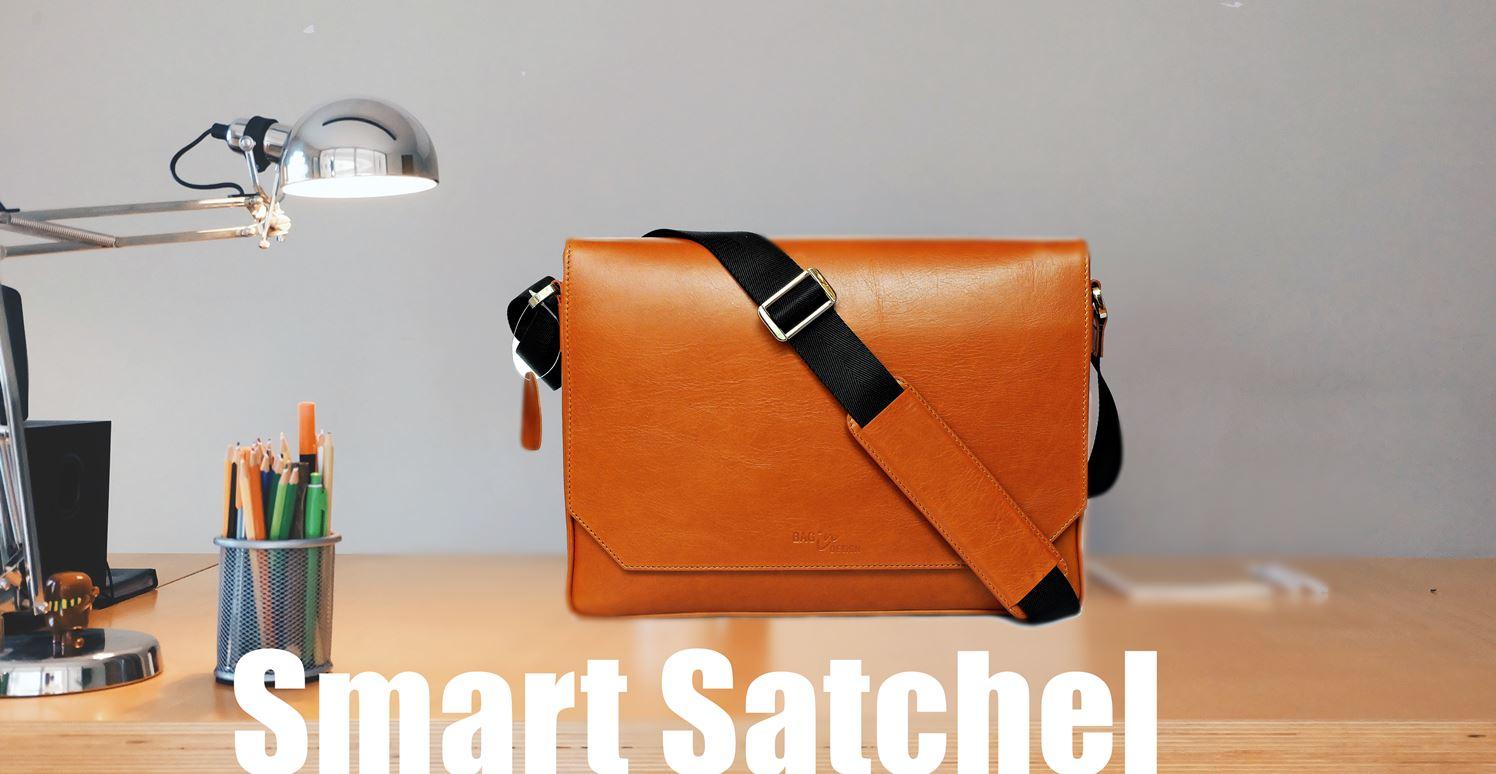 กระเป๋าเอกสาร หนังแท้ สำหรับ macbook notebook laptop