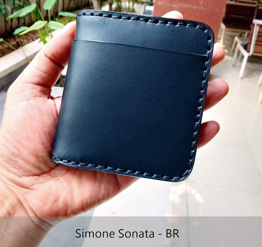 กระเป๋าสตางค์ สำหรับผู้ชาย สีดำ แดง Simone