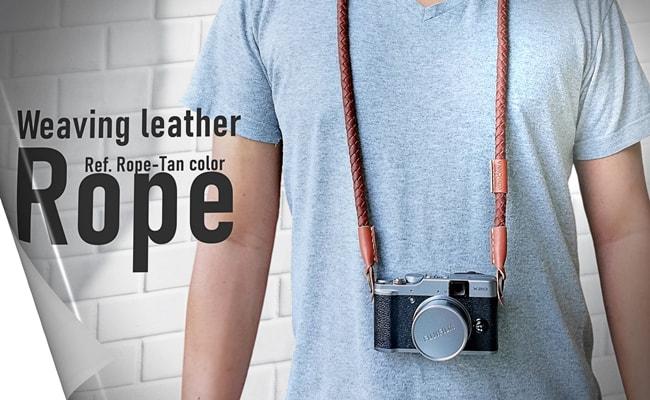 สายสะพายกล้อง หนังแท้ Weaving leather rope
