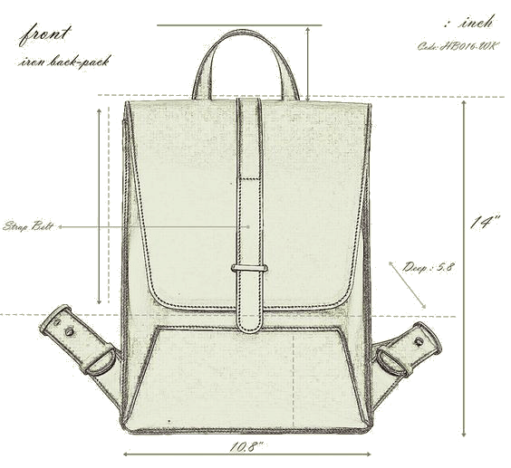 sketch backpack leather