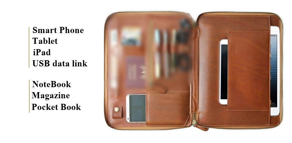 Tech.section folio leather กระเป๋าหนังแท้