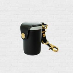 Film Case Leather Handcrafts Black Color กระบอกกลักฟิล์ม หนังแท้