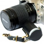 Film bottle leather Case Handcrafts 35mm. Black Color