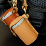 Film bottle leather Case Handcrafts 35mm. nude Color