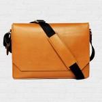 Macbook Smart Satchel Caramel กระเป๋าสะพายหนังแท้