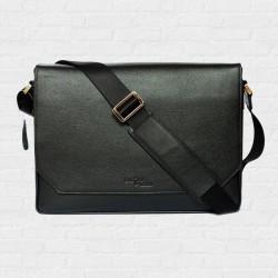 Macbook Smart Satchel  Super Black กระเป๋าสะพายหนังแท้