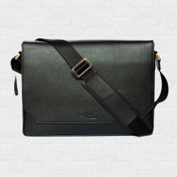 Messenger Macbook Smart Satchel  Super Black Color กระเป๋าเมสเซนเจอร์ สีดำ