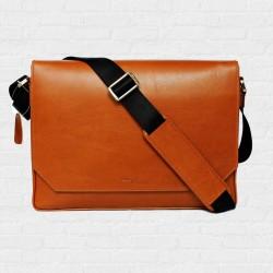 Macbook Smart Satchel Tan Brown กระเป๋าสะพายหนังแท้