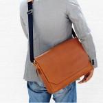 Messenger Macbook Smart Satchel Bag Tan Brown Color กระเป๋าเมสเซนเจอร์ สีน้ำตาลเข้ม