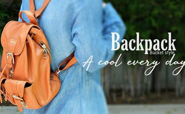 กระเป๋าเป้หนังแท้