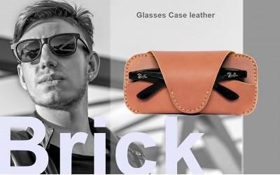 กระเป๋าซองแว่นตากันแดด หนังแท้ Brick สำหรับหนุ่มใหญ่ หัวใจวินเทจ