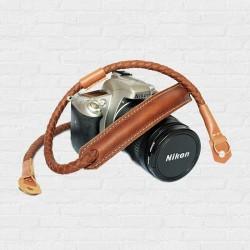 สายกล้อง Weaving leather Camera Strap Rope-Tan