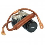 สายกล้อง Weaving leather Camera Strap Rope-Tan