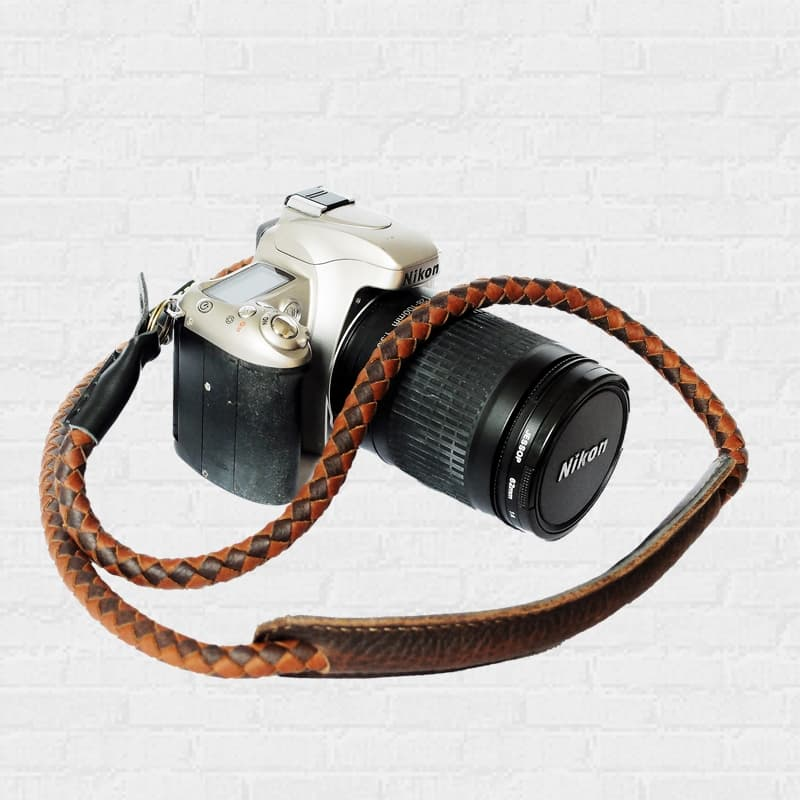 สายกล้อง Weaving leather Camera Strap Rope-2Tone