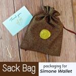 กระเป๋าสตางค์ handmade หนังแท้ Simone Sonata BB Series กระเป๋าผู้ชาย Wallet เย็บมือ สีดำ
