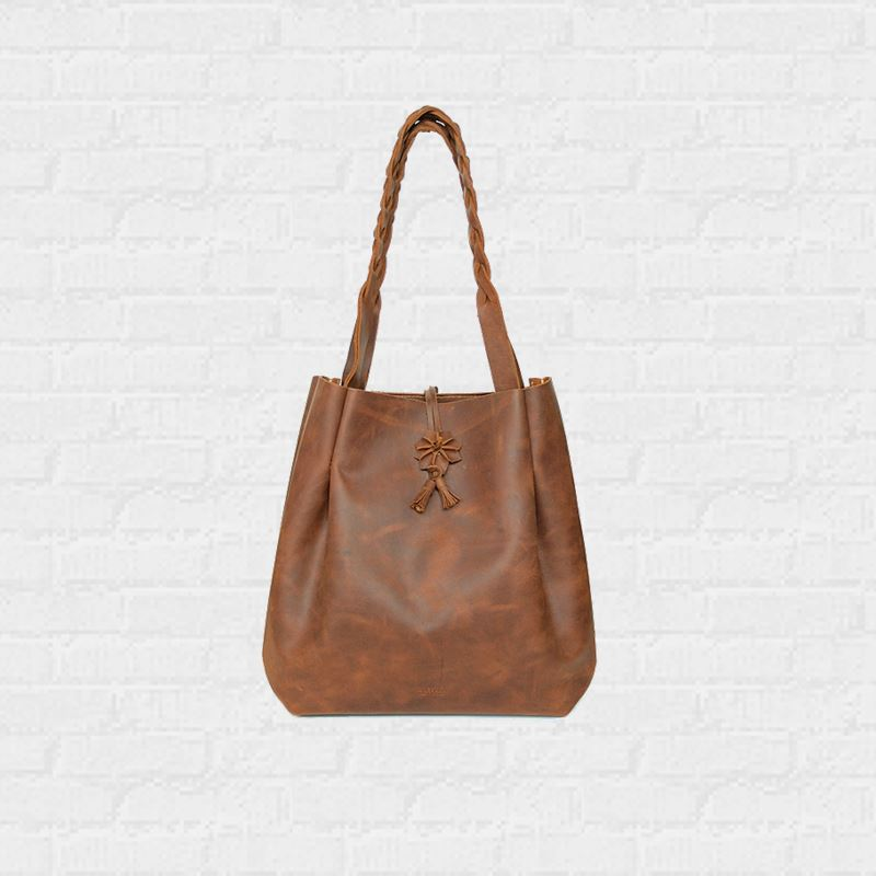 กระเป๋าหนัง Floral Concept Tote bag Genuine Leather Minimalist