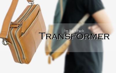 กระเป๋าหนังแท้ แปลงร่างได้