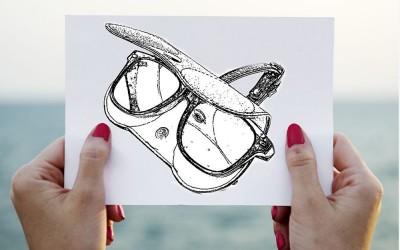 ซองแว่นตากันแดด Hanging Leather Pouch Cases Sunglasses