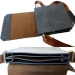 NAVY BLUE Vertical Pro 2 Dimenzion Front flap iPad 10.5 Messenger Bag formen