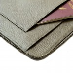 Tech. Folio Smog Color Embossed Full Grain Cow Leather ESSENTIAL for Journey