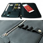 Tech. Folio Black Color Full Grain Cow Leather ESSENTIAL for Journey