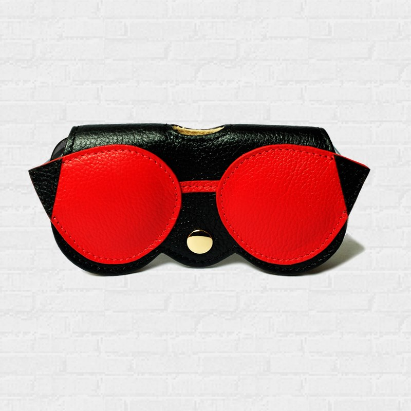 ซองแว่นตา Pouch Cases Sunglasses Cut Eye Red & Black