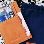 กระเป๋าสตางค์ Wallet for gentlemen Slim Credit Card Holder Marine