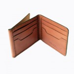 Z.Wallet  Saddle Tan Wallet Money Clip Bi-fold V3.1 Dark Brown  Handmade สำหรับผู้ชาย