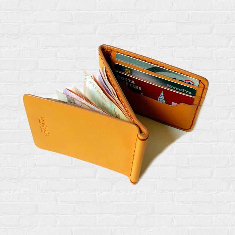 Z.Wallet Money Clip Bi-fold V3.1 Nude Color Handmade สำหรับผู้ชาย