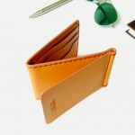 Z.Wallet Money Clip Bi-fold V3.1 Nude Color Handmade สำหรับผู้ชาย