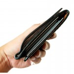 Z.Wallet Money Clip Bi-fold V3.1  Dark Brown  Handmade สำหรับผู้ชาย
