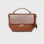 OWL Chestnut Color Handbags กระเป๋าถือ หนังแท้