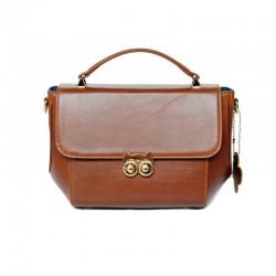 กระเป๋าถือหนังแท้ สำหรับผู้หญิง Handbag leatheri รุ่น OWL Chestnut Color Handbags