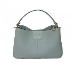 กระเป๋าสะพายข้าง handbag Valley Pastel Blue Grey กระเป๋าถือหนังแท้ สีน้ำเงินเทา พาสเทล Handbag for women