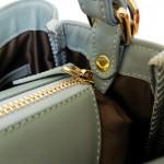 Valley Pastel Blue Grey กระเป๋าถือหนังแท้ สีน้ำเงินเทา พาสเทล Handbag for women