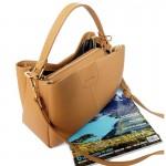 Valley Beige กระเป๋าถือหนังแท้ สีเบจ Handbag for women