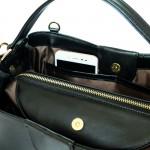 Valley Black กระเป๋าถือหนังแท้ สีดำ
