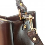 Valley Brown กระเป๋าถือหนังแท้ สีน้ำตาล