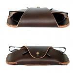 Rusty Dark Brown Glasses Case
