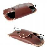 ซองแว่นตาหนังแท้ Rusty Red Glasses Case