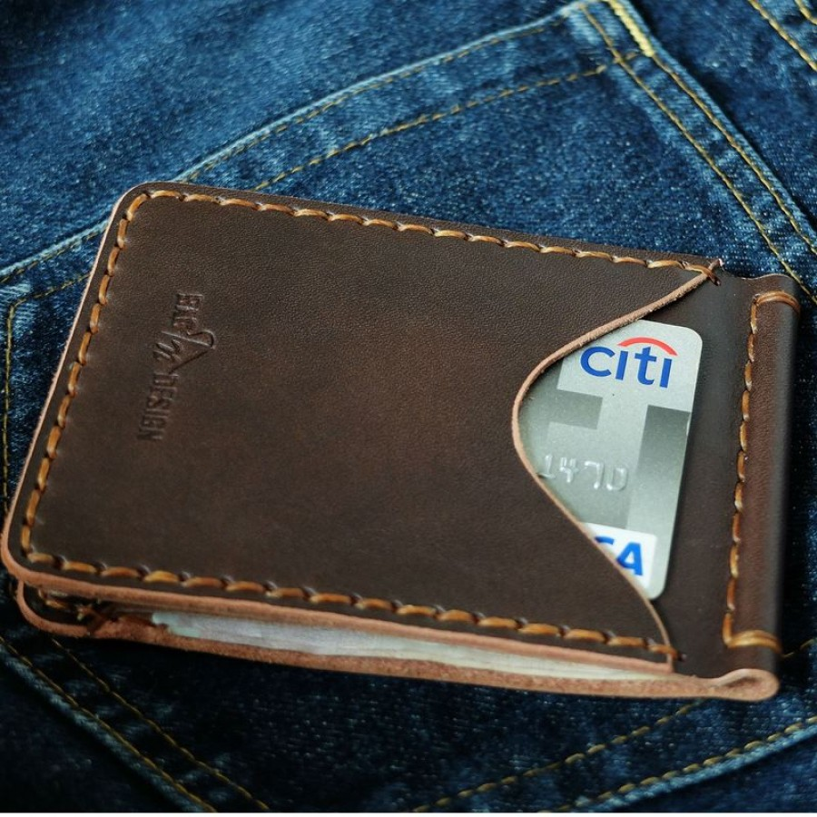 money clip small leather goods