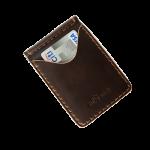 Wallet Money Clip Rusty Dark Brown