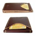 Handmade Wallet Money Clip Rusty Red กระเป๋าผู้ชาย หนังแท้