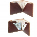 MoneyClip handmade Rusty Red Color