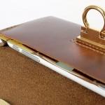 Minimal Wallet ferro di cavallo Design กระเป๋าใบยาว หนังแท้ สำหรับผู้หญิง