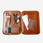 Tech. Folio Saddle Brown Color Cowhide full grain ESSENTIAL Journey