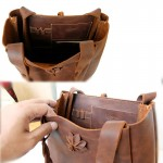 Tote Bag Floral Concept  Genuine Leather Minimalist