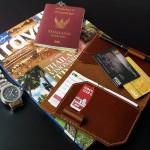 Passport Holder With Pen Slot
