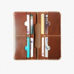 ใส่โทรศัพท์ มือถือ Smart Phone  Wallet New2018 MULTI-PURPOSE Oil pull up genuine leather