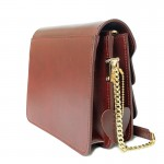 กระเป๋าผู้หญิง ใบเล็ก หนังแท้ HELM COMPASS Red wine